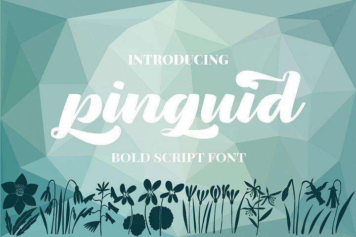 Pinguid | Bold Script