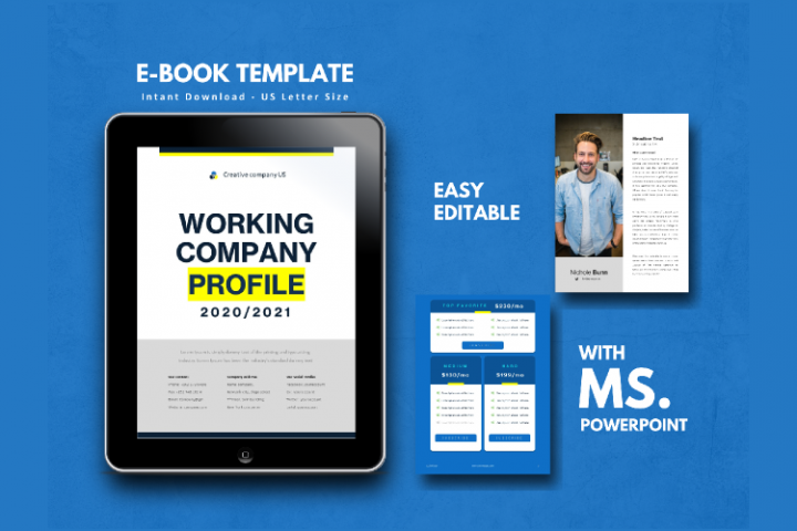 Company Profile 2020 eBook Template PowerPoint Presentation