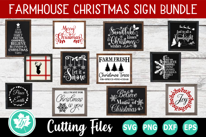 Farmhouse Christmas Sign SVG Bundle