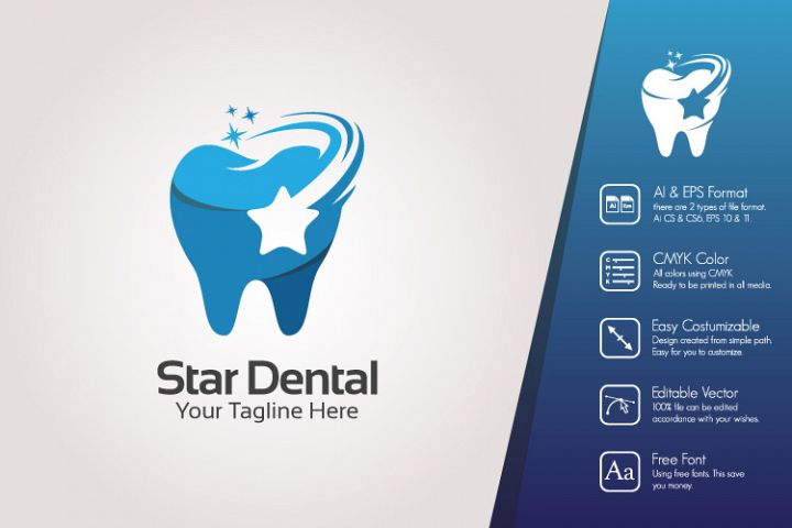 Star Dental Logo Template