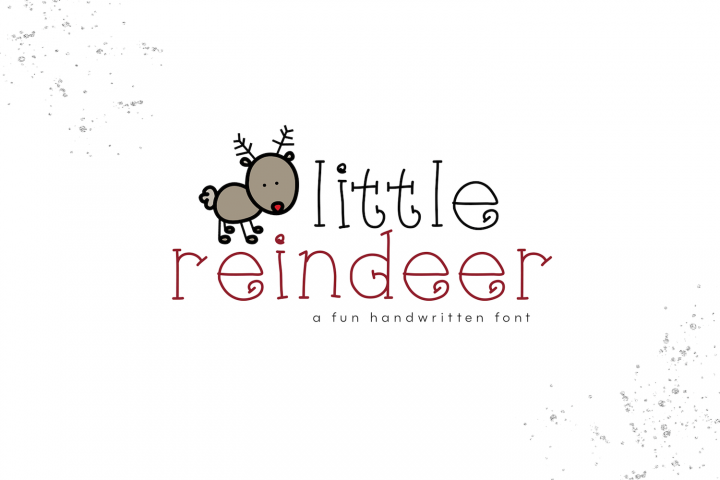 Little Reindeer - A Cute Handwritten Font