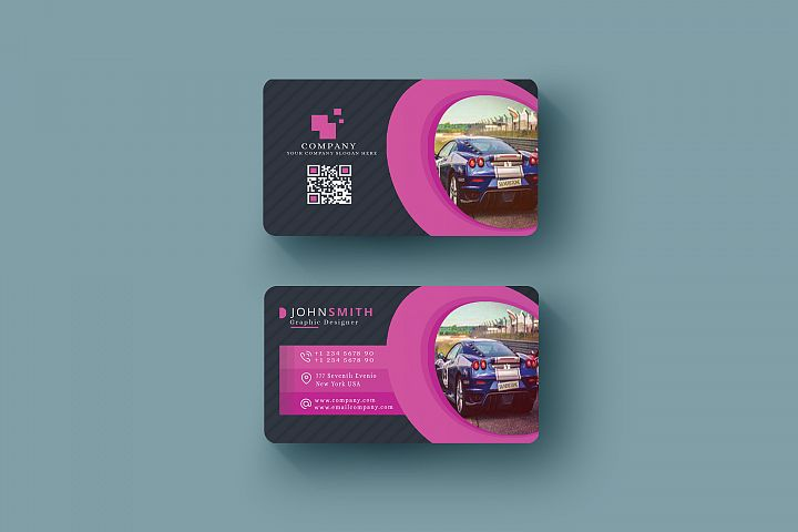 Abstract Business Card in Multicolor Design Template
