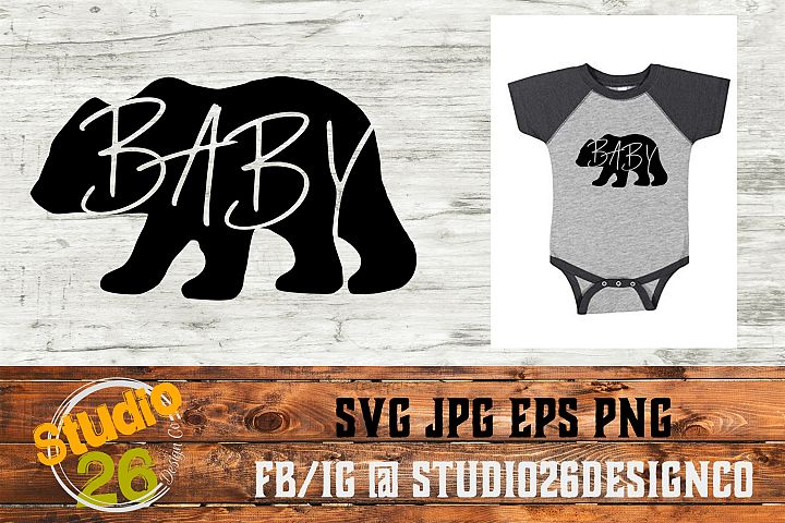 Baby Bear - SVG EPS PNG