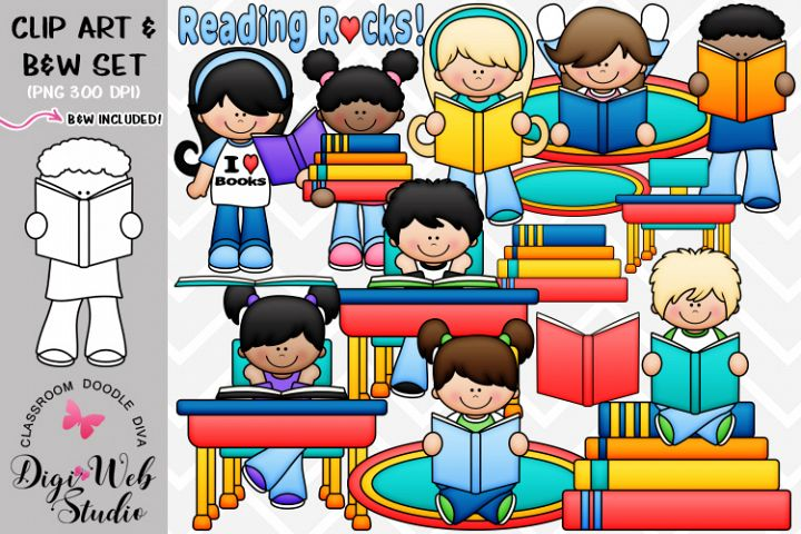 Clip Art / Illustrations - Reading Rocks Kids