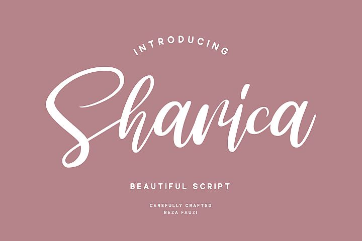 Sharica - Script Font