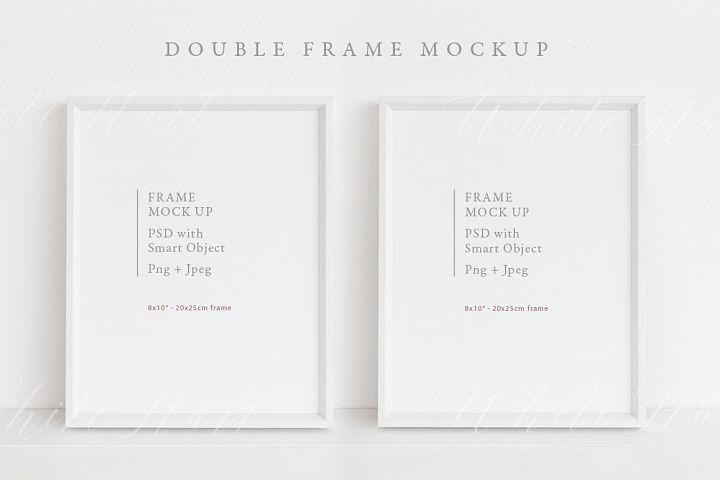 Double frame mockup - 8x10