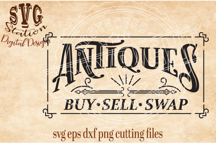 Vintage Antiques Cut File