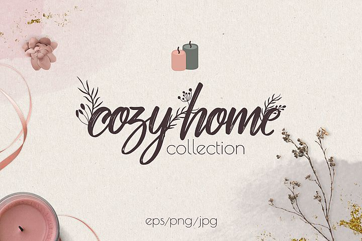 Hygge winter collection. Cosy home.