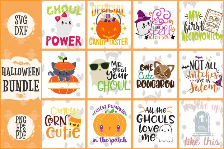 Halloween Svg Bundle, Dxf Eps Pdf Png Spooky Bundle