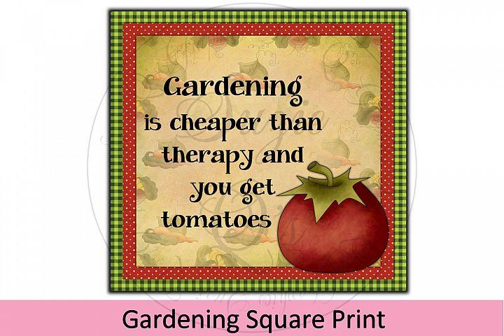 Gardening Square Print