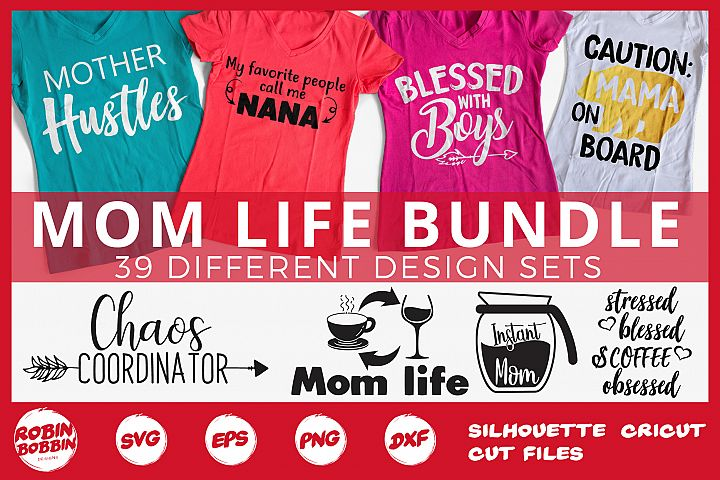 Mothers Day Bundle svg, Mom Life Bundle, Big Mother Bundle
