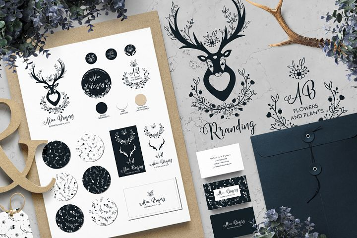 BRANDING HAND DRAWN BOHO ELEMENTS.