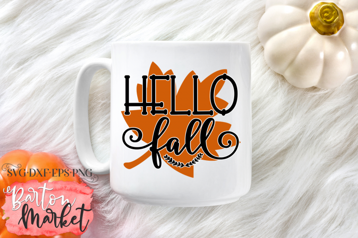 Hello Fall SVG DXF EPS PNG example