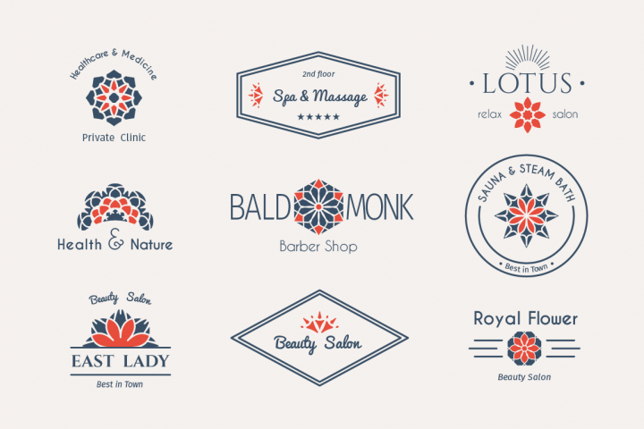 9 Health and Beauty Logo Templates