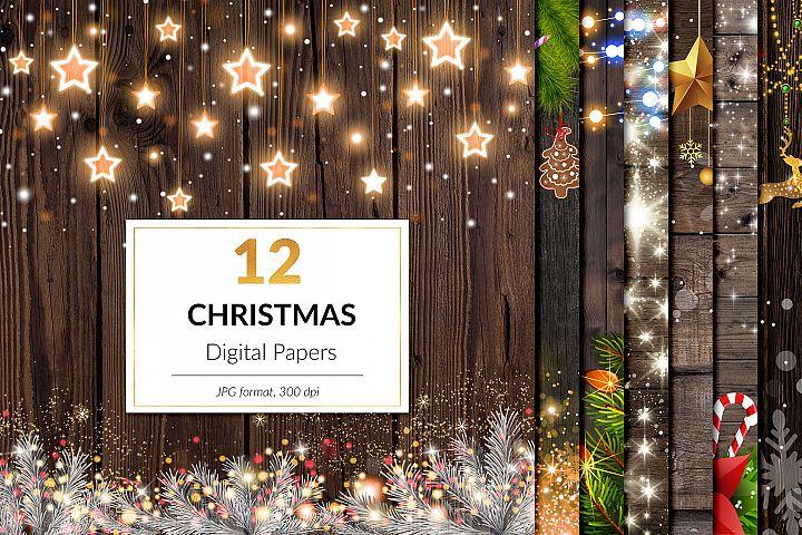 Magical Christmas Digital Paper