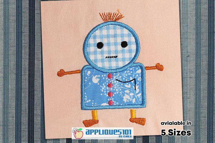 Sad Face Cartoon Machine Embroidery Applique Design - Faces