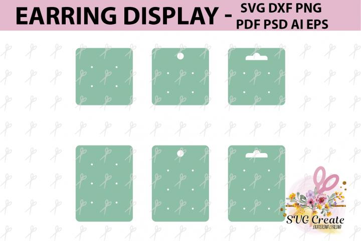 Earring cards svg, earring display pdf