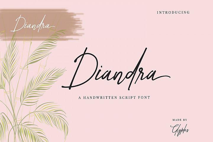 Diandra Signature font