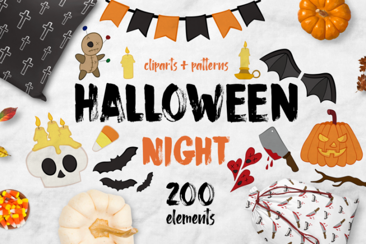 Halloween night BUNDLE 200 ELEMENTS