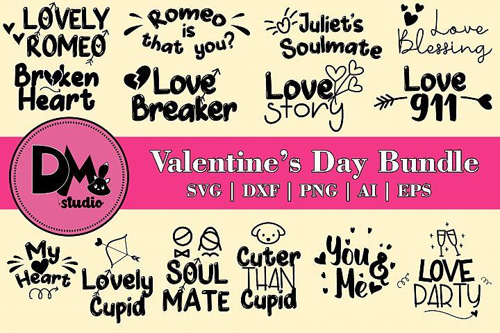 Valentines Day Words Bundle