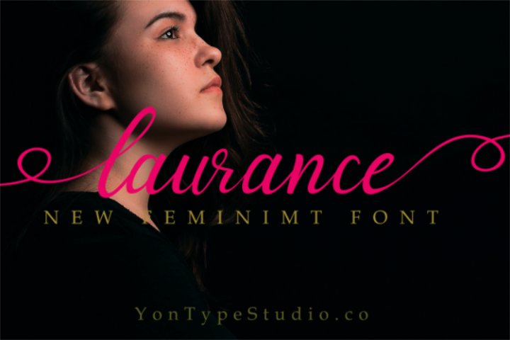 laurance lovely font