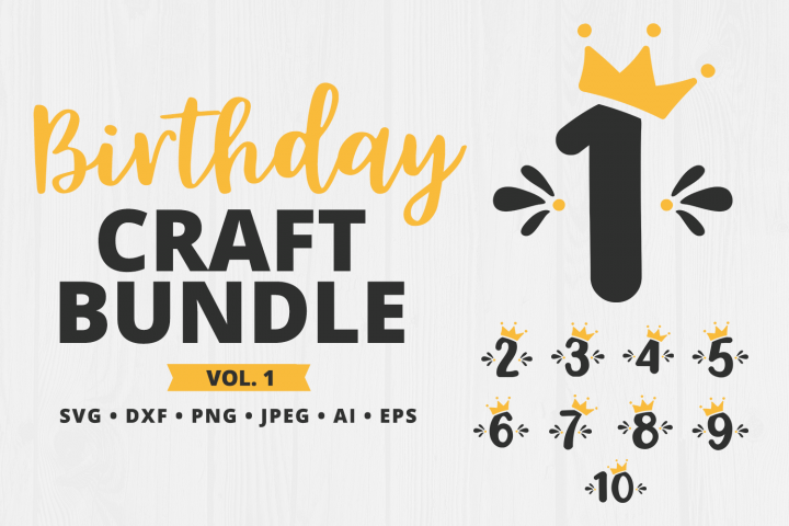 Birthday SVG Craft Bundle