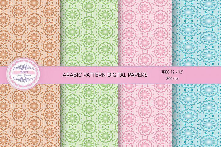 ARABIC PATTERN DIGITAL PAPERS