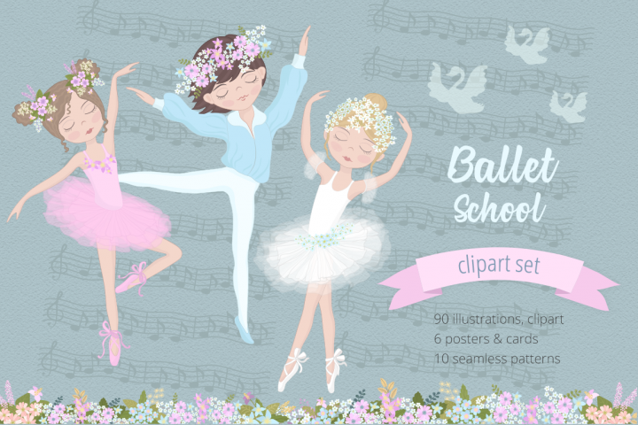 Ballet School Illustration Set