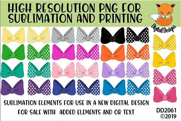 Hair Bow Elements PNG for Sublimation