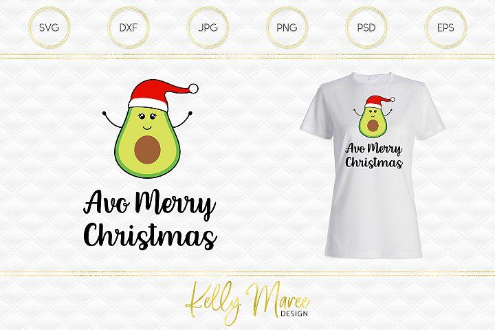Christmas Avocado SVG File | Avo Merry Christmas example 1