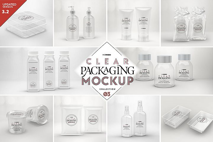 VOL.3 Clear Packaging Mockup Collection