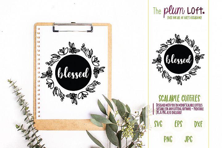 Blessed - SVG Design
