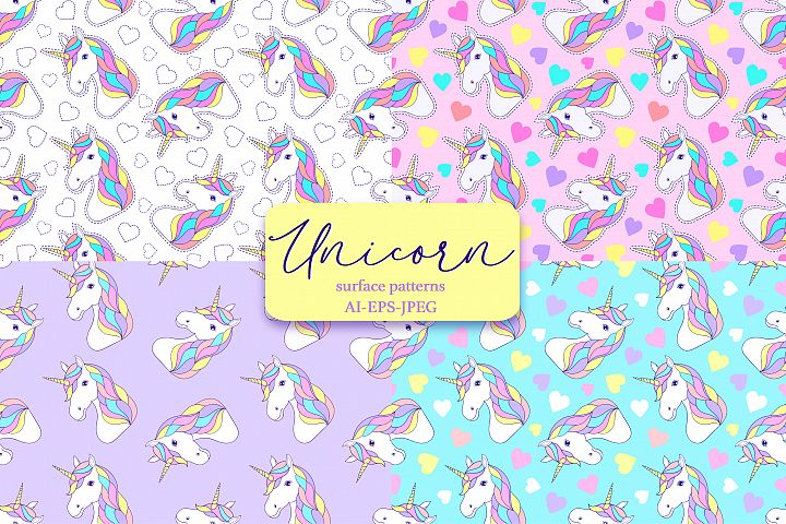 Unicorns.Surface patterns.