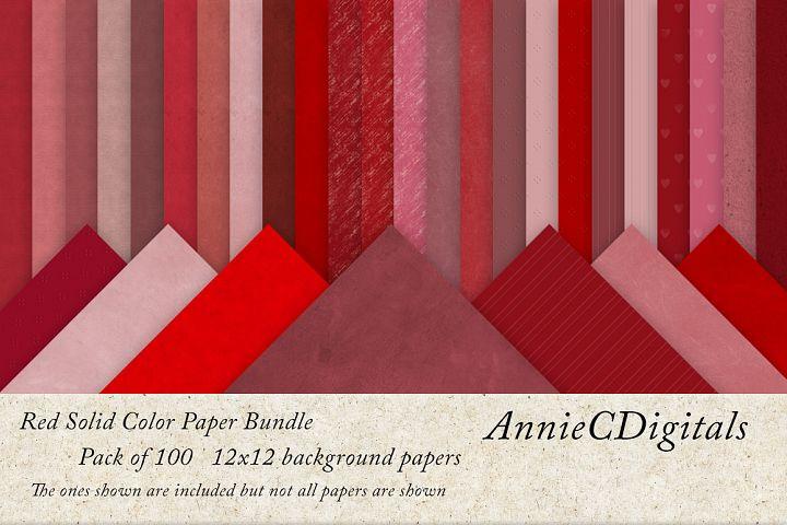 Red solids digital paper bundle