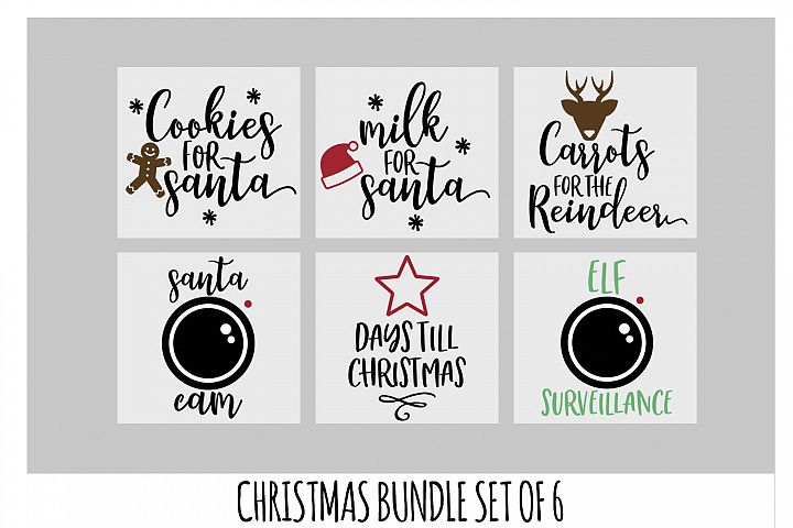 Christmas SVG Bundle, Cookies For Santa Svg, Santa Cam SVG