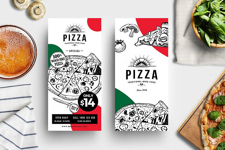 Pizza Rack Card Template