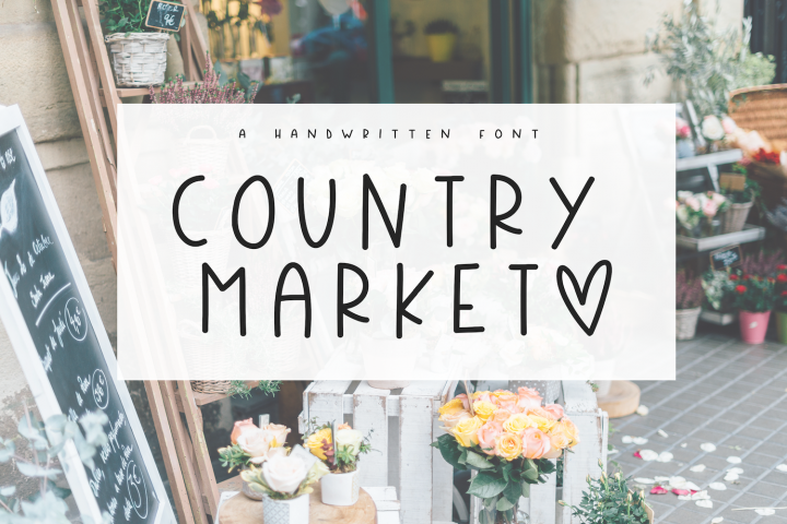 Country Market - A Handwritten Display Font - Free Font of The Week
