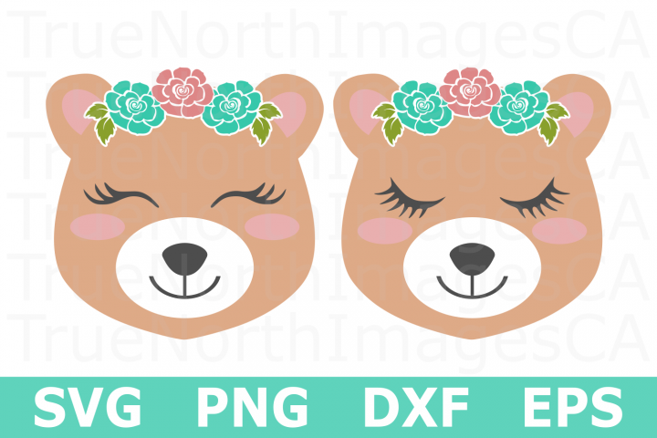 Bear Faces - An Animal SVG Cut File