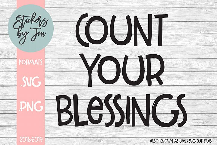 Count Your Blessings SVG Cut File