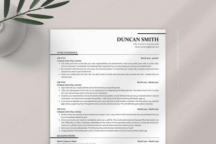 ATS-optimized Executive Resume Template, ATS-friendly Resume