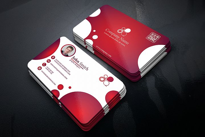 Business Card with Circle touch Visiting Card