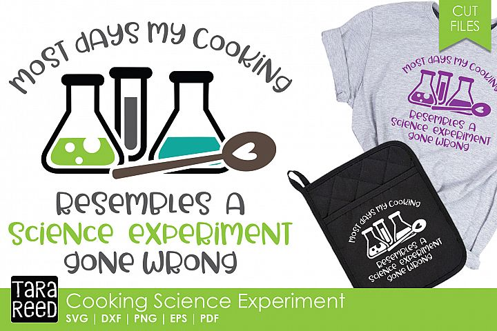 Cooking Science Experiment - Kitchen SVG and Cut Files