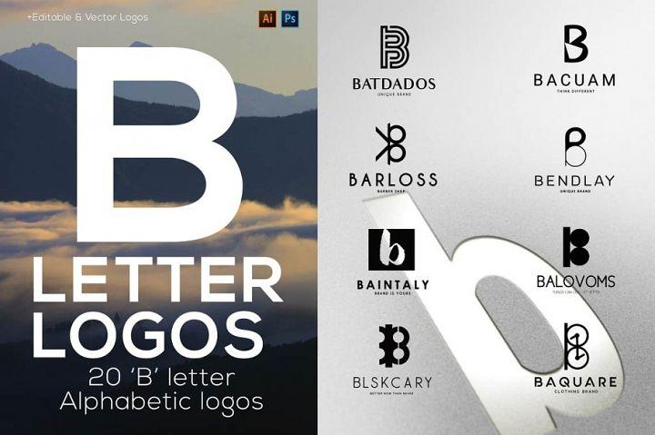 B Letter Alphabetic Logos