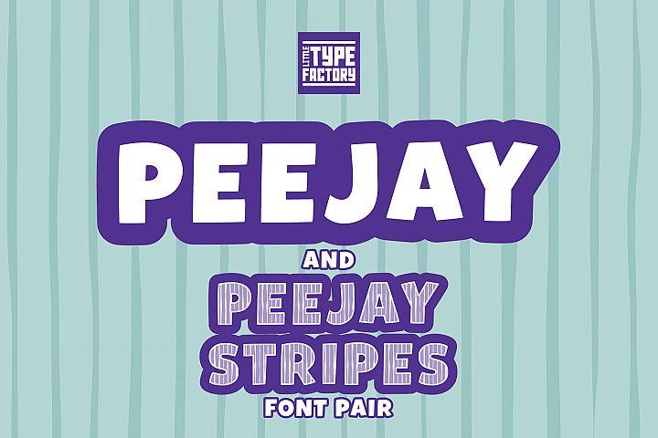 Peejay & Peejay Stripes Font Pair
