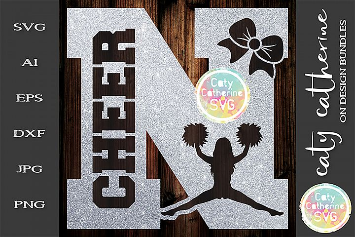 Letter N Cheerleading Monogram Letters SVG Cut File