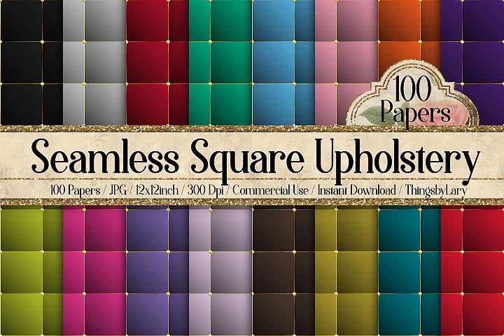 100 Seamless Square Upholstery Quilt Leather Digital Papers