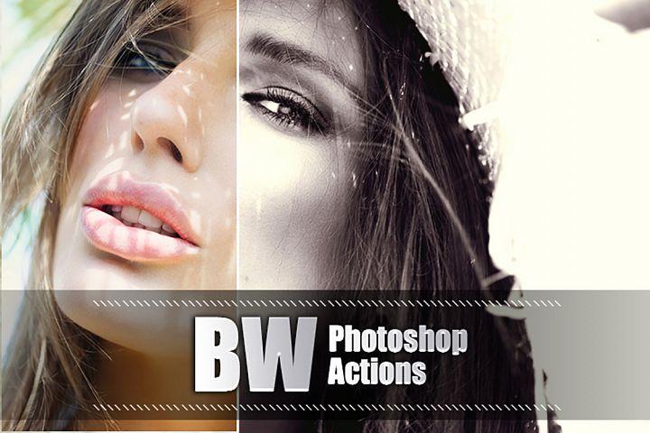 55 Black White Photoshop Actions