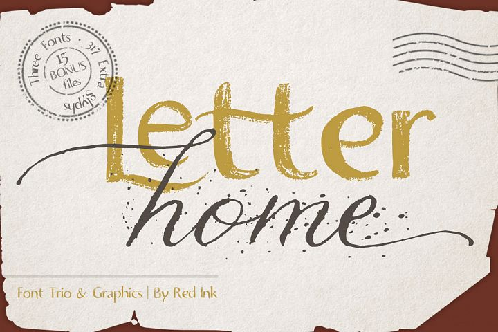 Letter Home. Font Trio Graphics.
