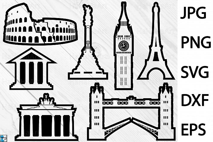 Outline Europe - Clip art / Cutting Files 221c