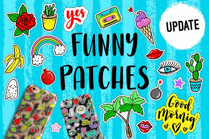 100 Funny patches 27 patterns